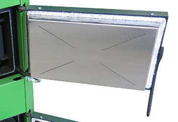нержавеющий экран дверцы твердотопливного котла